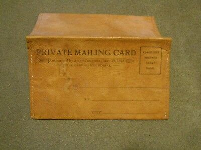 Old Vintage Antique Small Private Mailing Card Holder Envelope 1898 Prob Leather