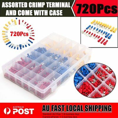 720Pcs Assorted Heat Shrink Wire Connector Automotive Marine Crimp Terminal AU
