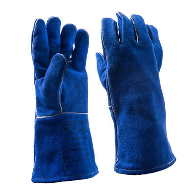 Leather Welding Brown Jacket Gloves Coat Trousers Protective Clothing Suit L