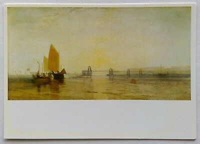 The Old Chain Pier Brighton Oil by J M W Turner Postcard (P266)