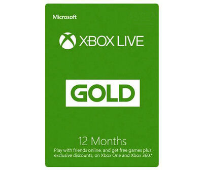 Microsoft - Xbox Live Gold 12 Month Membership (USA Region)