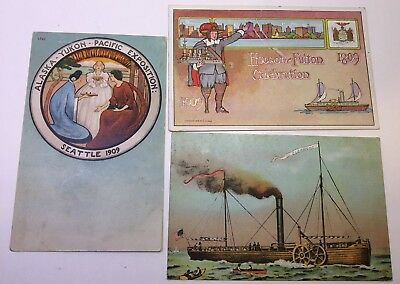 Vintage Postcard Alaska-Yukon-Pacific Exposition 1909 Lot Of 3, Variety