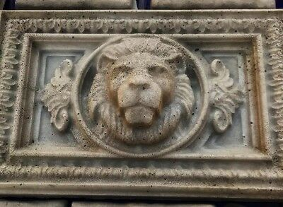 Lions Head Concrete Mold bas relief 2pc