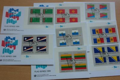 Flaggen, Flags - UNO NY - 8 FDC 1999