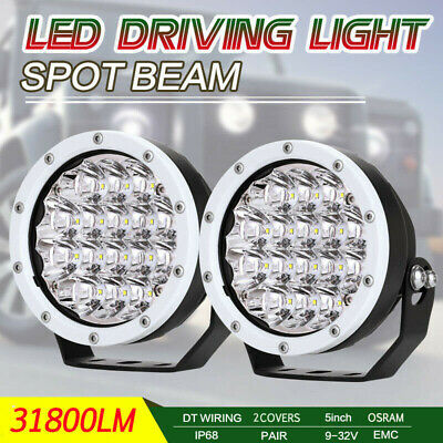 9inch 99999W Combo Beam CREE LED Driving Work Lights Offroad 4WD Round White SUV