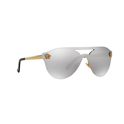 120d1263b4 New Original Versace Aviator Sunglasses VE2161 10026G Gold Metal Silver Lens  NIB