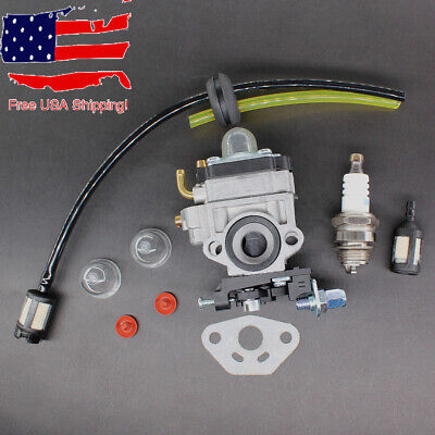 AFTERMARKET CARBURETOR WITH Gasket Primer Bulb For Jiffy Ice 2 Cycle