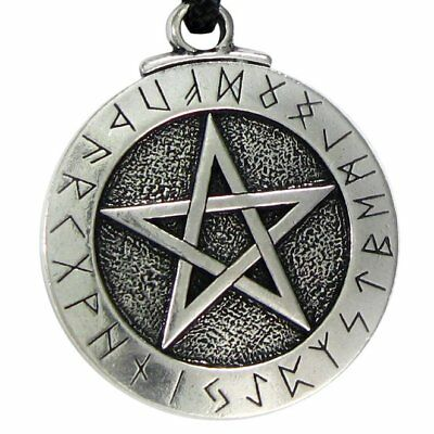 Norse Viking Pendant Necklace Large Rune Pentacle Pendant Pentagra necklace