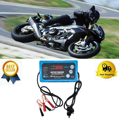 Full Automatic Smart Fast Battery Charger For Car/Motorcycle EU Plug 12V/6A fo12