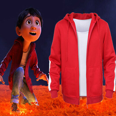 Boys Kids Cartoon Clothes Coco PIXAR Music Miguel T-Shirt Hoodies Coat