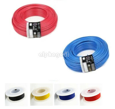 10M UL-1007 24AWG Hook-up Wire Schaltdraht 80°C / 300V Blue/Black/Red/Yellow