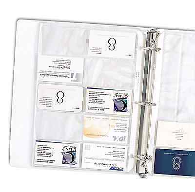 Business Card Holder Binder 40-Sheets Pages Clear Sleeves Refill Organizer Book