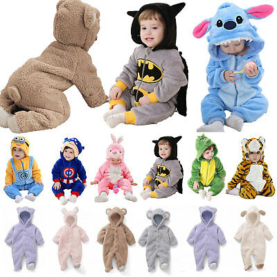 Newborn Baby Kid Cosplay Pajamas Kigurumi Animal Costume Romper Outfit Clothes