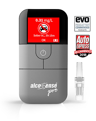AlcoSense Pro Fuel Cell Breathalyser Professional Breathalyzer Packaging Damaged