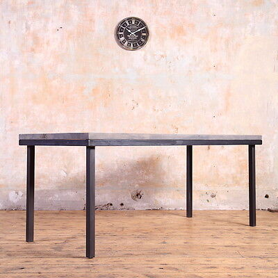 Industrial Style Canteen Wooden Table Rustic Reclaimed Retro Farmhouse Vintage