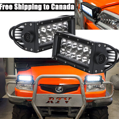 2PC 7inch CREE LED Light Bar Work For Off road RTV ATV Truck Jeep Ford SUV 4WD