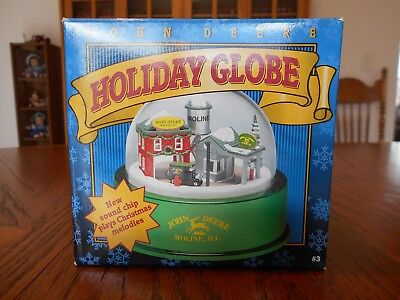 1998 John Deere Moline, Ill. Holiday Globe by Ertl Christmas Lights Music Motion