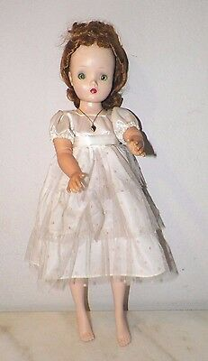 "VINTAGE 1950's MADAME ALEXANDER CISSY DOLL 20"" RED HAIR GREEN EYES"