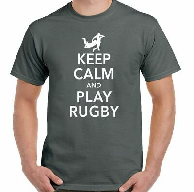 Keep Calm & Play Rugby - Mens Funny T-Shirt