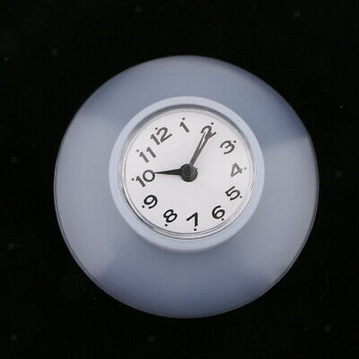 Large Suction Cup Clock Wall Glass Mirror Fridge Clock Kitchen Bathroom Decor