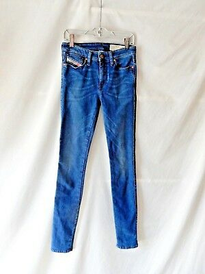 8ad49a78 W25 L32 Ladies Womens Diesel SKINZEE 0848L Stretch Sper Slim Skinny Blue  Jeans