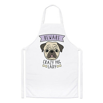 Beware Crazy Jellyfish Lady Chefs Apron Funny Animal Sea Cute Cooking BBQ