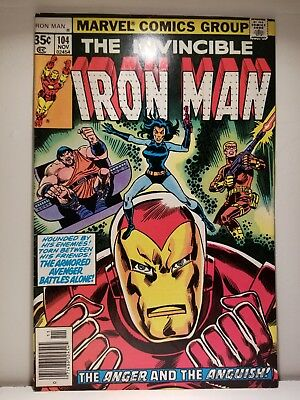 (2) IRON-MAN Comics 104 +108 / $10 DELIVERED / Bronze Age 2-Pack Sale