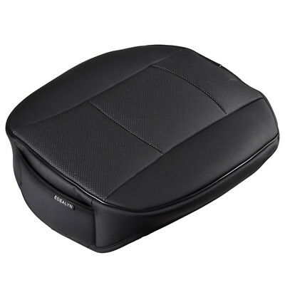 Universal Black PU Leather Deluxe Car Cover Seat Protector Cushion Front Cover
