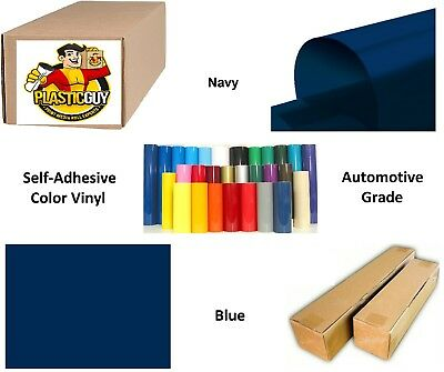 """Navy Blue Self-Adhesive Sign Vinyl 30"""" x 150 ft or 50 yd (1 Roll)"""