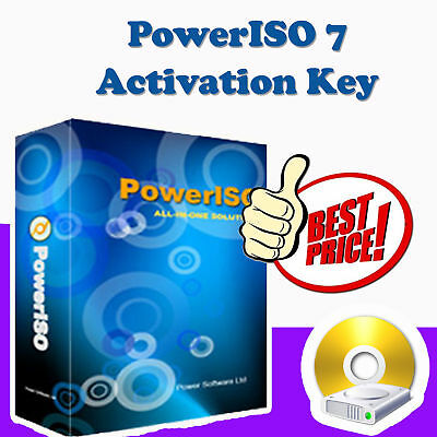 PowerISO 7.0 Power ISO Windows 32/64 Software Create Extract Burn DOWNLOAD + KEY