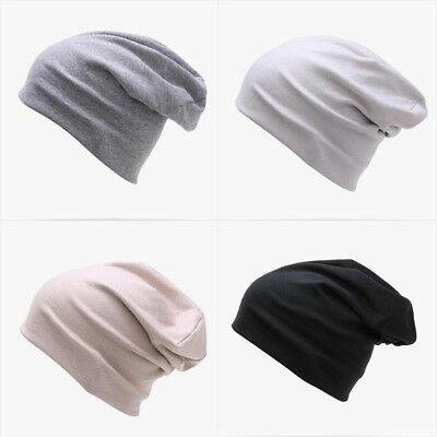 Men s Cotton Cool Beanie Slouch Skull Cap Long Baggy Hip-hop Winter Summer  Hat 51a38d89749d