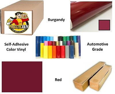 "Burgandy Self-Adhesive Sign Vinyl 30"" x 150 ft or 50 yd (1 Roll)"