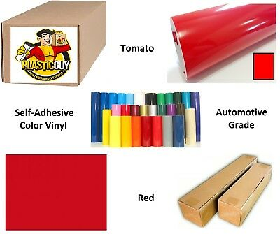"""Tomato Red Self-Adhesive Sign Vinyl 30"""" x 150 ft or 50 yd (1 Roll)"""