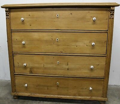 Antique Pine Chest Of Drawers, Dresser European Circa 1890 #200