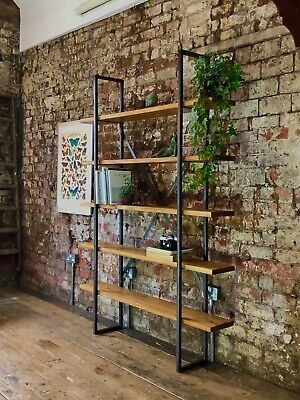 Industrial Shelving - Handmade Rustic Reclaimed Bookshelf - Bespoke Furniture