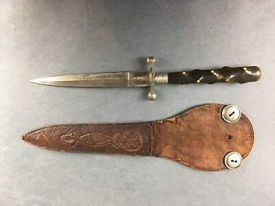 1904 Stiletto Blade with Leather Scabbard FREE SHIPPING!!!