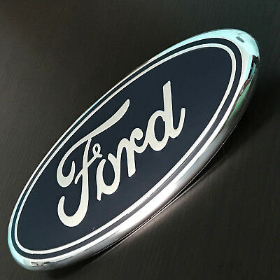 """9"""" Blue FORD 04-14 F150 Front Grille tailgate Oval Emblem Decal Badge Nameplate"""