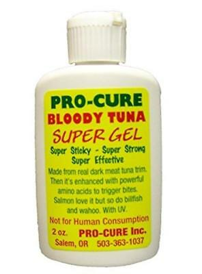 Pro-Cure Bloody Tuna Super Sticky Gel 2 oz Bottle Fishing Scent Attractant