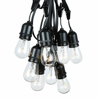 48 Foot S14 Suspended Edison Outdoor Market Patio String Lights, 25 S14 Bulbs