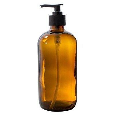 cbc4c957cc9c AMBER BOSTON ROUND Thick Glass Spray Bottle - 16 oz + Labels - $9.95 ...