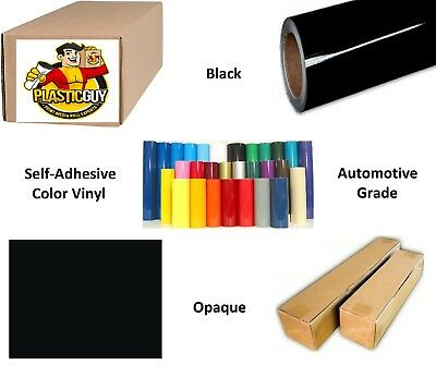 "Black Self-Adhesive Sign Vinyl 30"" x 150 ft or 50 yd (1 Roll)"