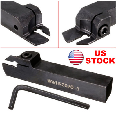 MGEHR2020-3 20mmx125mm Holder Cutting Groove Cutter Lathe Turning Tool, US STOCK