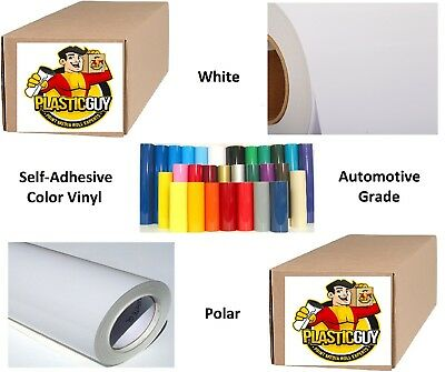 "24"" x 50yd 6yr outdoor sign vinyl film craft hobby roll sheet white"