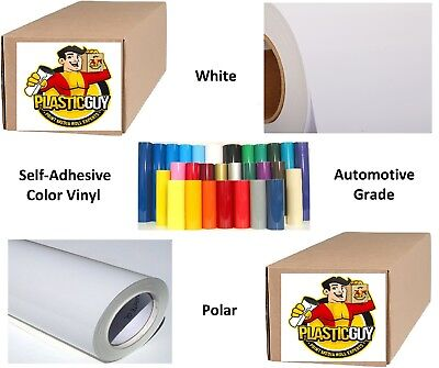 "48"" x 50yd 6yr outdoor sign vinyl film craft hobby roll sheet white"