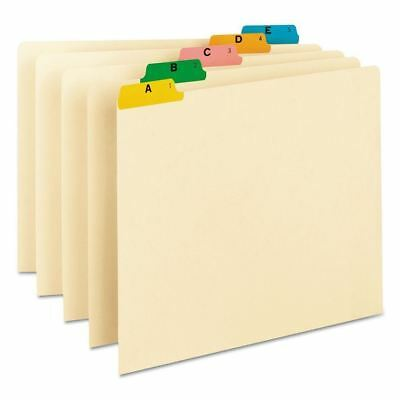 Smead Recycled 1/5 Top Tab Alphabet File Guides, Manila (Letter, 25 ct.)