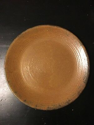 "EUC Vintage McCoy Pottery Canyon Mesa Brown 12.25"" Round Serving Platter USA"