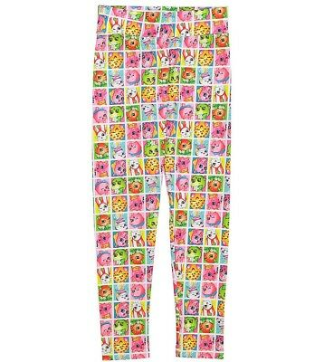 Girls SHOPKINS pink rainbow character leggings 6 8 NWT pants pajama soft stretch
