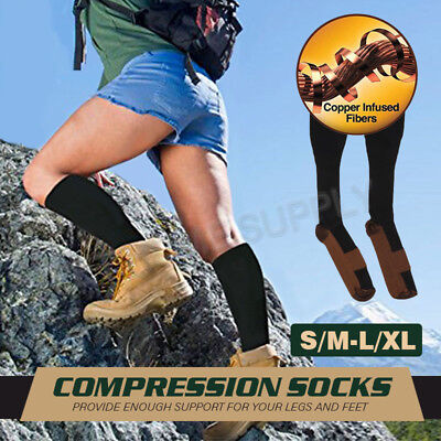 Compression Socks For Men & Women 2 Pairs Running Athletic Medical Pregnancy