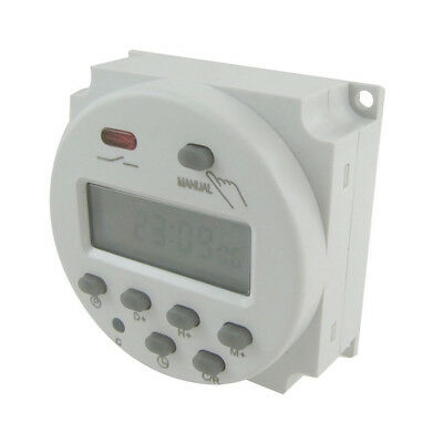 DC12V/24V AC110/220V Digital Weekly Programmable Power Timer Time Relay Switch
