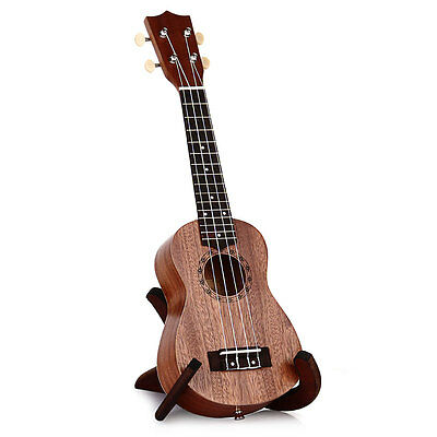 21 Inch Ukulele Sapele Soprano Hawaii Guitar Wood Musical Instruments 15-Frets